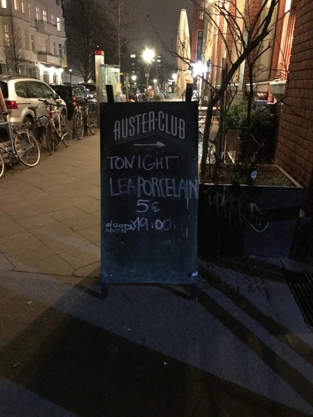 Lea Porcelain @Auster Club Berlin
